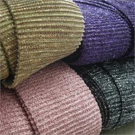 Knitted Metallic Ribbed Border 55mm thumbnail