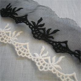Embroidered Tulle Edging 35mm/55mm thumbnail
