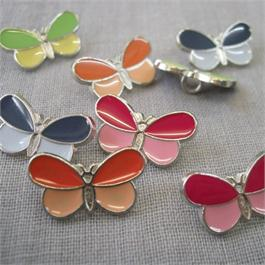 Metal Enamel Butterfly Button thumbnail