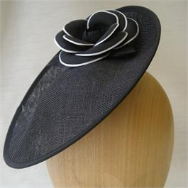 Blocked Sinamay Fascinator 27cm thumbnail